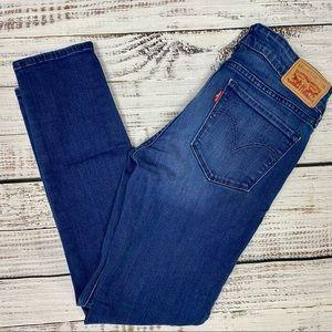 LEVI'S 711 Skinny Dark Wash Skinny Jeans 27X30